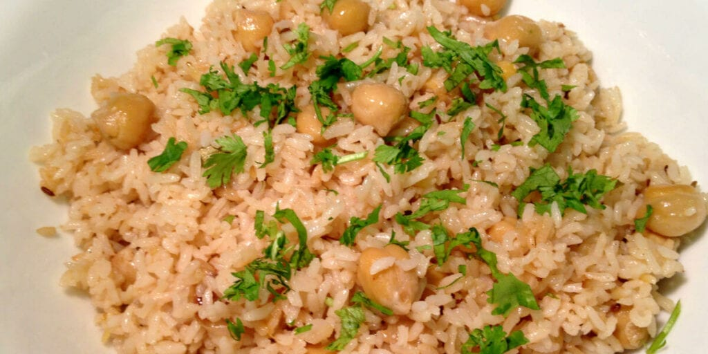 Chick pea and brown rice recipe