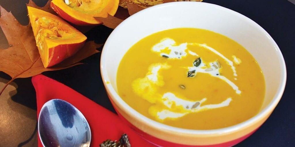Yellow pumpkin soup