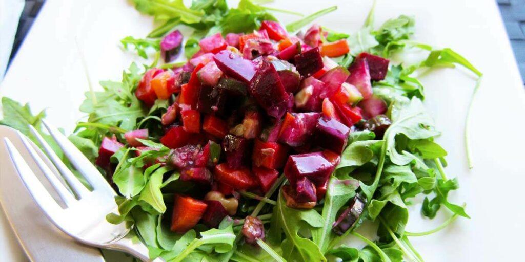 Vegetable salad for diet