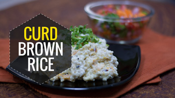 Omega 3 curd brown rice