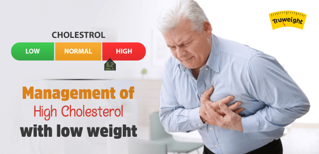 Management of high cholesterol with low weight