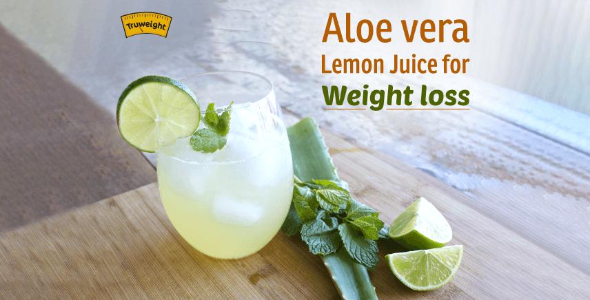 Aloe vera Lemon juice For Weight loss
