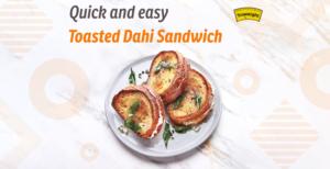 Toasted Dahi sandwich