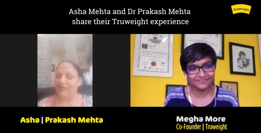 Asha Mehta and Dr Prakash Mehta