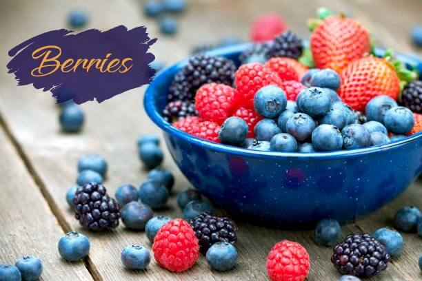 Berries are rich in iron