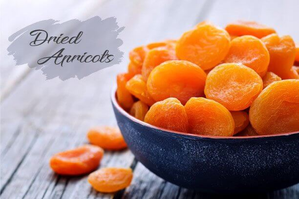 Dried Apricots are iron-rich fruits