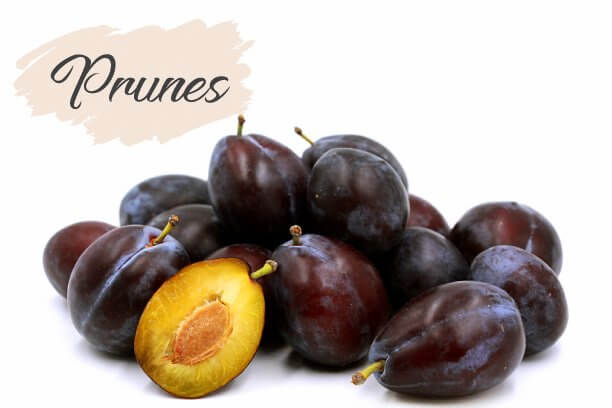 Iron rich prunes