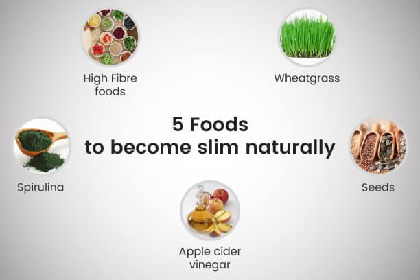 Foods that help in becoming slim