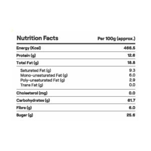 key ingredients of banana chocolate cookies