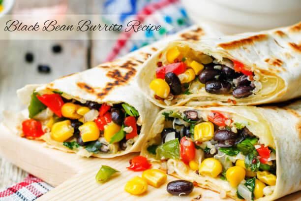 Black Bean Burrito Recipe
