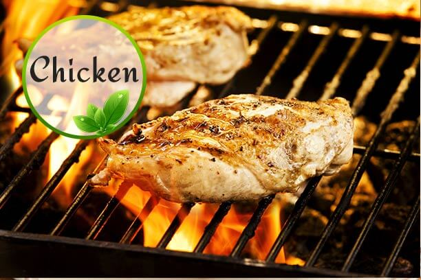 Grilled chicken are healthy as well as low-calorie foods