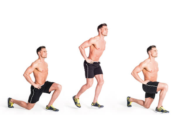 Explosive Lunges-Weight loss exercise at home