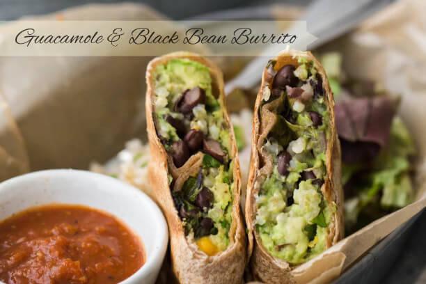 Guacamole & Black Bean Burrito Recipe