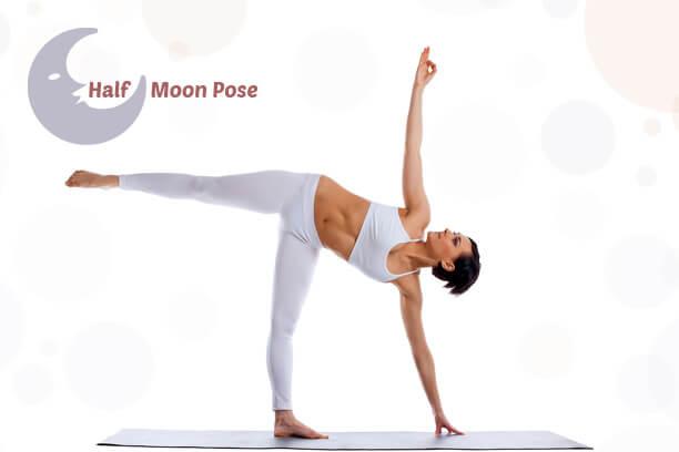 Half moon yoga asana for weight loss