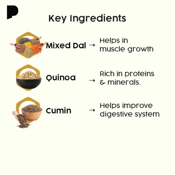 Benefits of Quinoa Dal Dosa with Key Ingredients