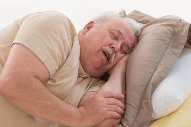 Lethargic old man