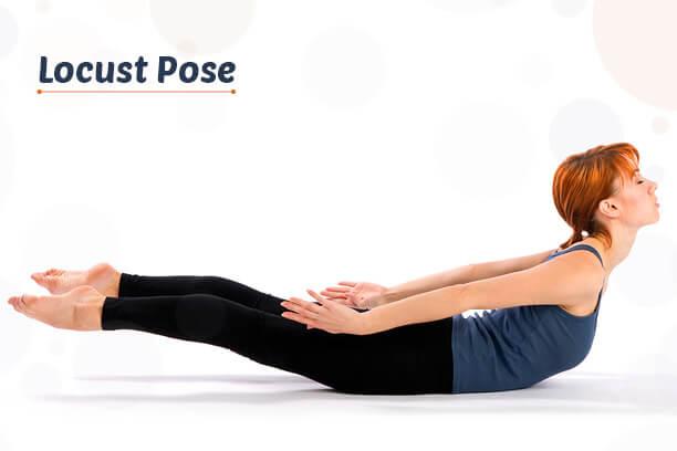 Locust Pose yoga asana for weight loss