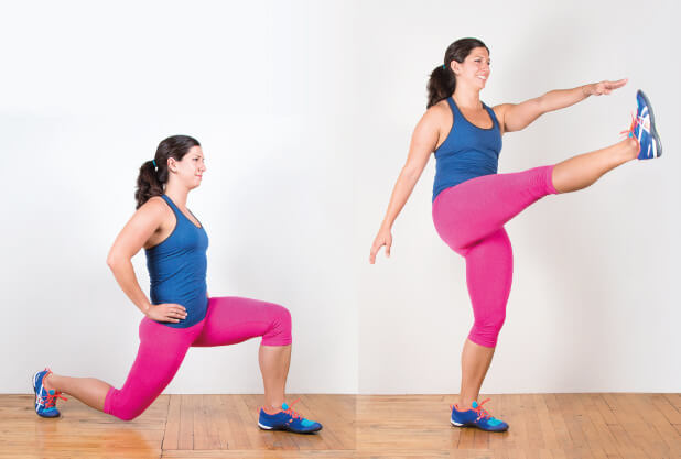 Lunges-Weight loss exercise at home