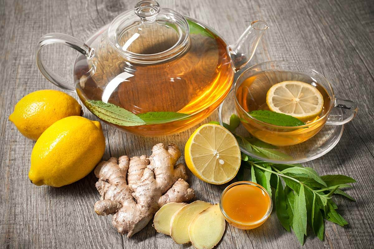 Ginger tea with ayurvedic herbs