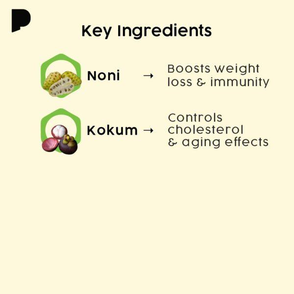 key ingredients of noni kokam drink