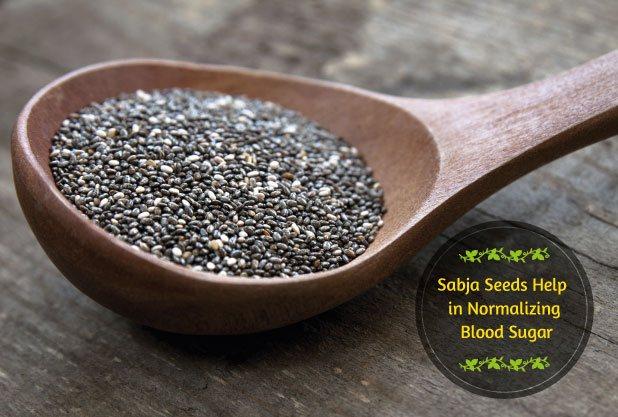 Sabja Seeds Help in reducing Blood Sugar