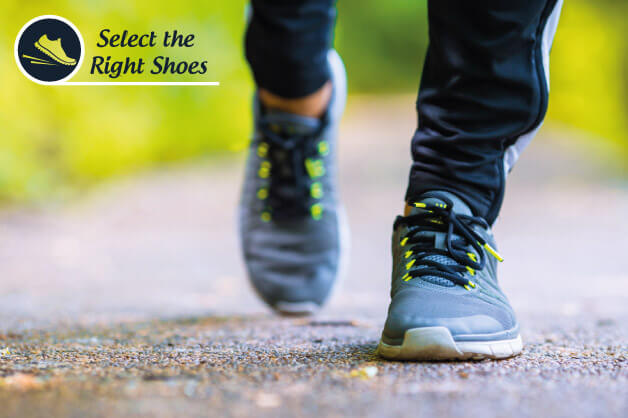 Select the right shoes for walking