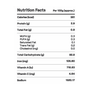 nutrtional facts of tomato soup