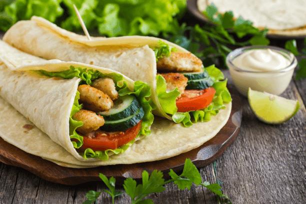 chicken-vegetable sandwich