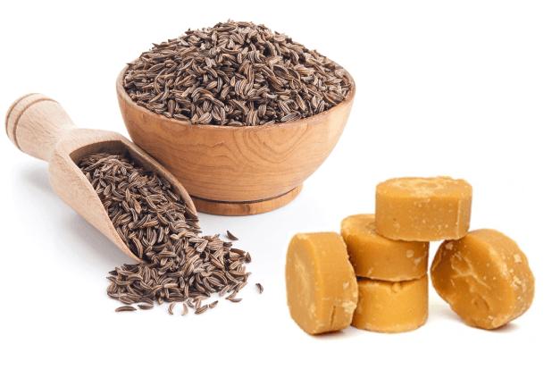 Cumin Seeds and Jaggery