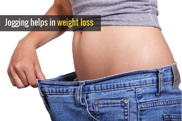 Jogging helps in weight loss
