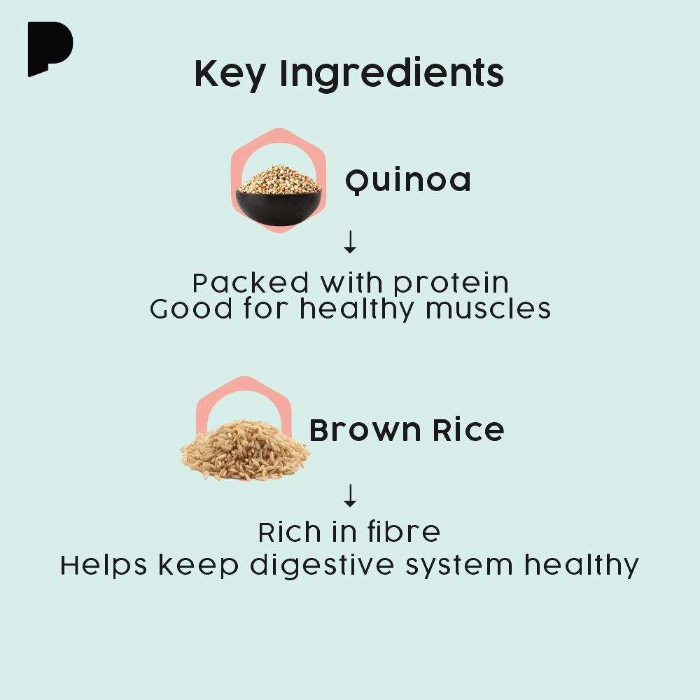 key ingredients of possible quinoa brown rice